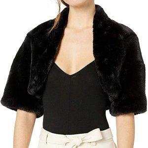 Betsy Johnson Cropped Faux Fur Bolero NWT